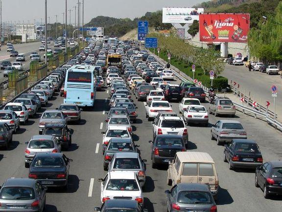 ترافیک سنگین در آزادراه «تهران - کرج»