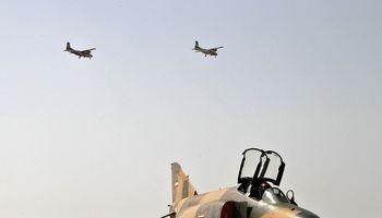 تمرین مشترک هوایی نیروهای مسلح در پایگاه نهم شکاری+عکس