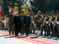 استقبال رسمی روحانی از رییس جمهور عراق
