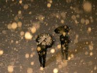 بارش برف در تبریز +تصاویر