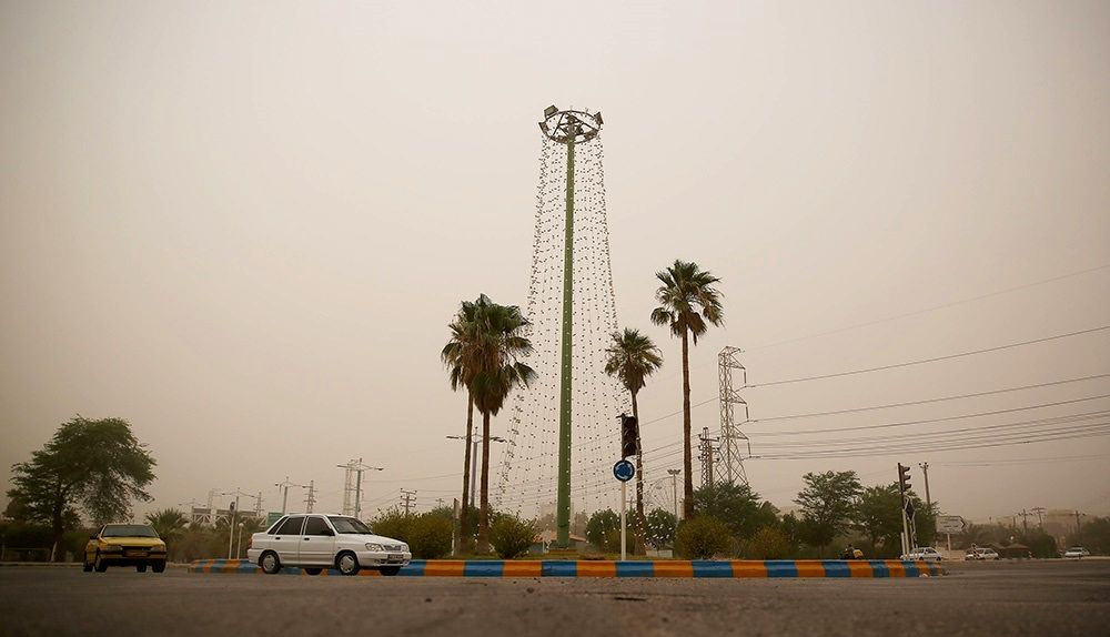 هوای غبارآلود آبادان +عکس
