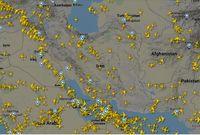 افزایش پروازهای عبوری از آسمان ایران
