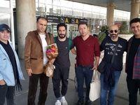 نوید محمدزاده و رفقا در فرودگاه امام خمینی +عکس