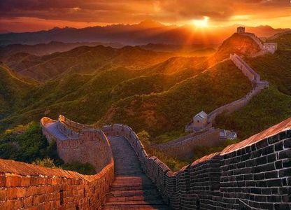 تصویری زیبا از دیوار چین