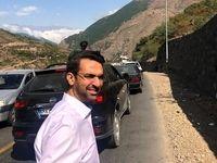 پیادهروی وزیر ارتباطات در جاده چالوس +عکس