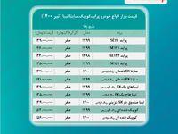 پراید ۱۳۹میلیون شد/ قیمت ساینا، کوییک و تیبا + جدول