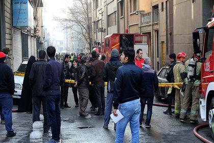 دومین روز آتش سوزی ساختمان وزارت نیرو +تصاویر