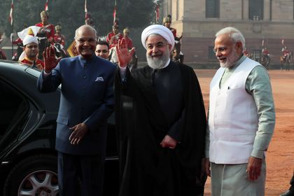 استقبال رسمی مقامات هندوستان از روحانی +عکس