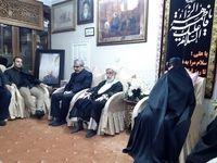 حضور آیتالله جنتی و کدخدایی در منزل سپهبد سلیمانی
