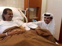 عیادت امیر قطر از پدرش در بیمارستان +عکس