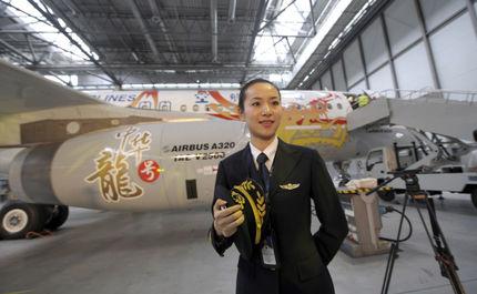 اولین زن خلبان شرکت هوایی سیچوان ، وانگ ژیگیان