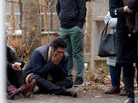 حضور خانواده قربانیان  سقوط هواپیما  در محل حادثه +تصاویر