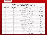 قیمت جدید تلویزیونهای محبوب (۱۳۹۹/۶/۱۷)