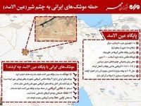 جزئیاتی از حمله موشکهای ایرانی به چشم شیر آمریکاییها!