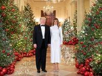 تیپ کریسمس ملانیا و دونالد ترامپ +عکس
