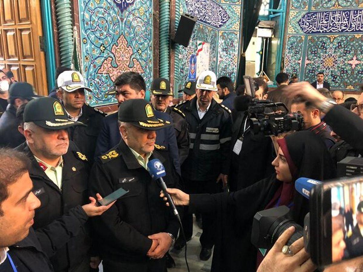 سردار رحیمی: نیروی انتظامی برای امنیت کامل انتخابات تلاش میکند