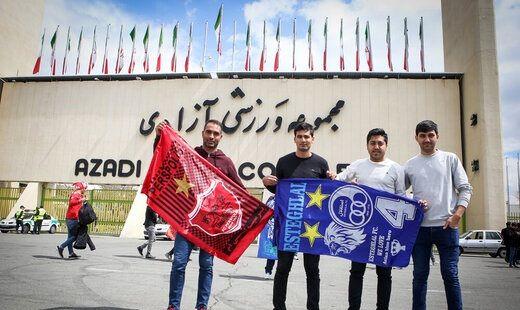حضور ۶۰آتش نشان در ورزشگاه آزادی برای نودمین دربی پایتخت