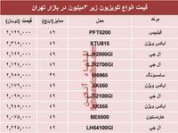 انواع تلویزیونهای ارزان در بازار چند؟ +جدول