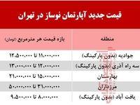 آپارتمان نوساز در تهران چند؟ +جدول