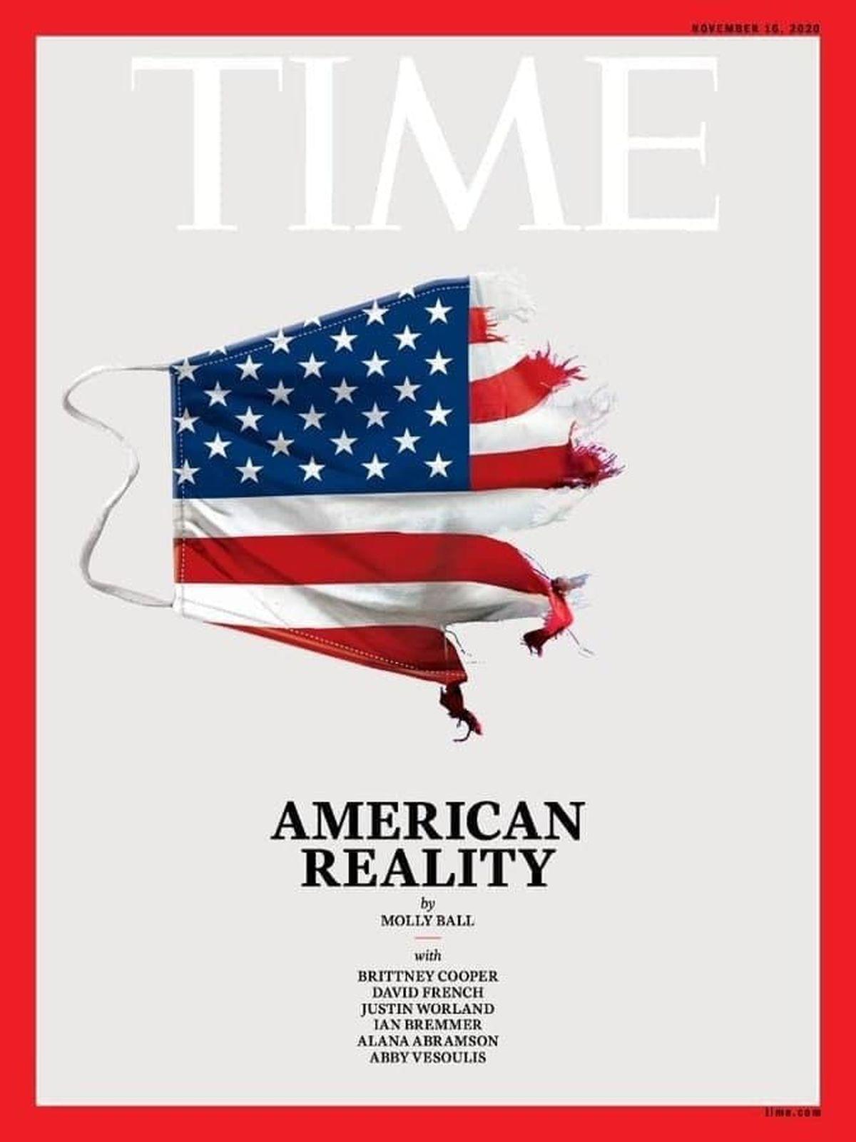 واقعیت آمریکایی تیتر جلد نشریه تایم شد +عکس