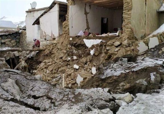 بیخانمانی زلزله زدگان «قطور» در دمای منفی 20 درجه