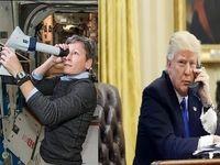 تماس ترامپ با فضا برقرار شد