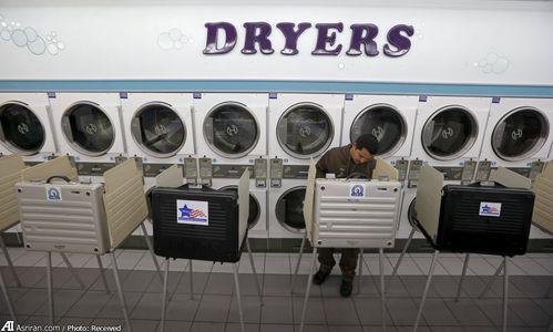 ماشین ثبت رای در انتخابات آمریکا +عکس