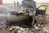 گرمای اهواز یک خودرو را به آتش کشید +عکس