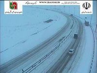 بارش برف و باران در بسیاری از جادهها