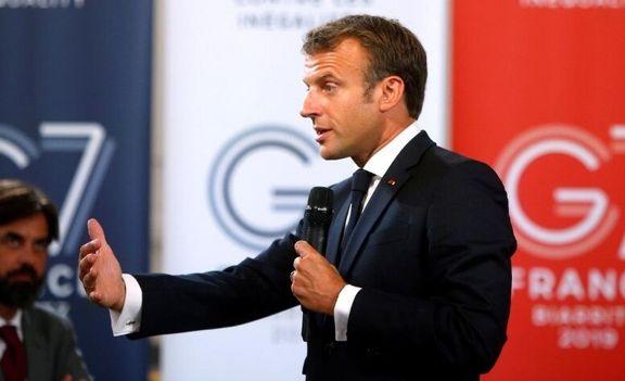 مکرون: فرانسه فشارهای خود بر آمریکا را افزایش خواهد داد