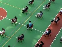 رعایت فاصله اجتماعی در کره جنوبی +عکس