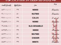 نرخ انواع تلویزیونLED در بازار تهران؟ +جدول