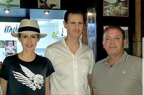 (عکس) بشار اسد و خانوادهاش در رستوران