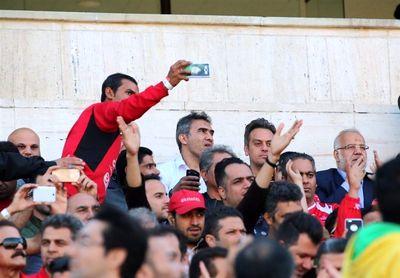 عابدزاده ورزشگاه را منفجر کرد +عکس
