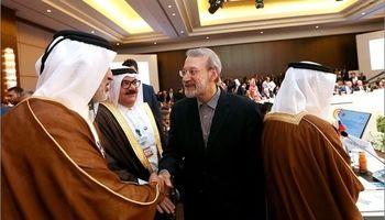 خوش وبش لاریجانی با سران عرب اتحادیه +عکس