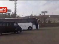 ورود اتوبوس هواداران تیم کاشیما به آزادی