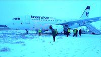 خروج هواپیمای کرمانشاه - تهران از باند فرودگاه