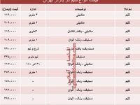 قیمت انواع گلیمها دربازار تهران؟ +جدول
