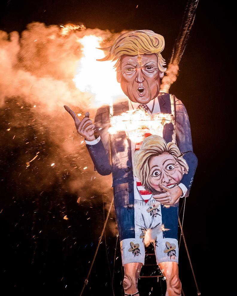 آتش زدن ماکت ترامپ