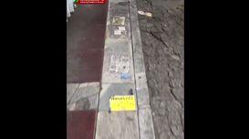 تخلف روی سنگفرش خیابانهای تهران! +فیلم