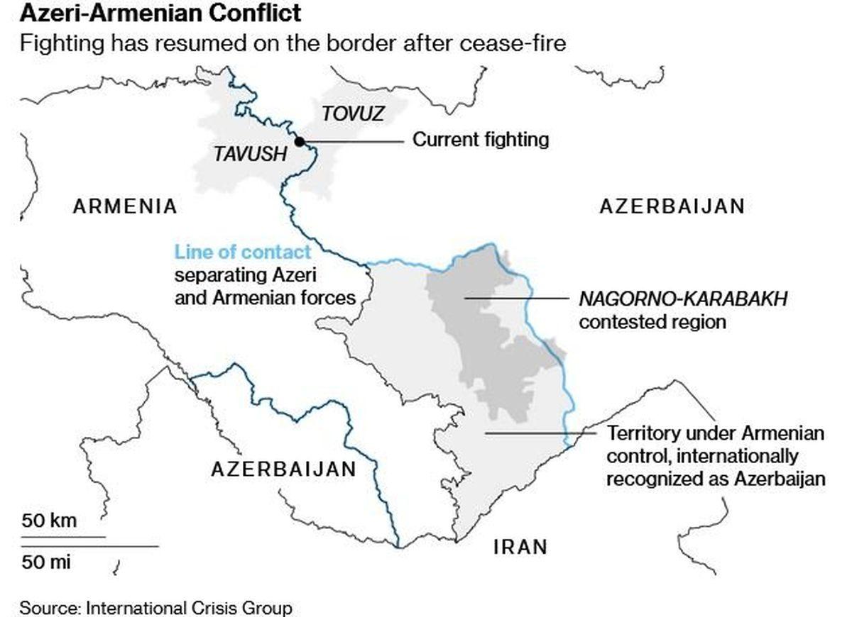 جمهوری آذربایجان: از مناطقی که گرفتیم عقب نمینشینیم