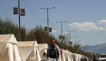 بسیاری از سیلزدگان گلستان هنوز در چادر زندگی میکنند