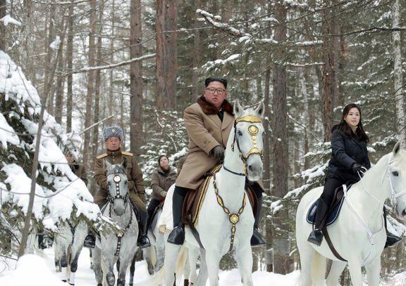 اسبسواری رهبر کره شمالی با همسرش +عکس