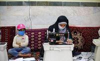 کارگاه تولید ماسک در استان گلستان +عکس