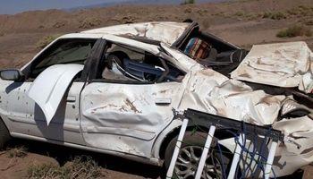 مرگ جوان ۲۲ساله در حادثه واژگونی سمند