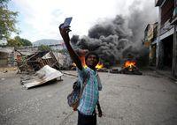 تظاهرات ضددولتی در هائیتی +تصاویر