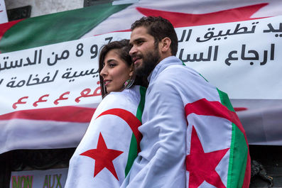 جشن مخالفان ریاست جمهوری الجزایر