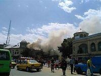 تصاویری از آتش سوزی در میدان امام خمینی تهران +فیلم