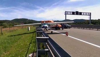 فرود اضطراری هواپیما در بزرگراههای اصلی کرواسی +فیلم