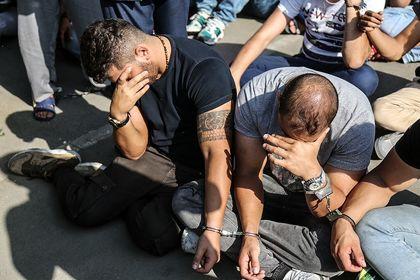 بازداشت ۲۱۳نفر از اراذل و اوباش تهران در ۸۵عملیات +تصاویر